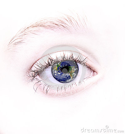 Free Eye With World Reflected In It Stock Photos - 25677873