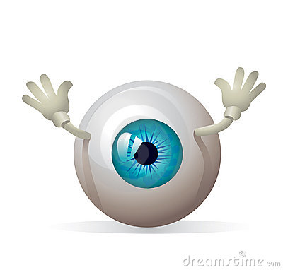 Eyeball with hands!