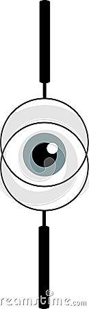 Eyeball view throw lens