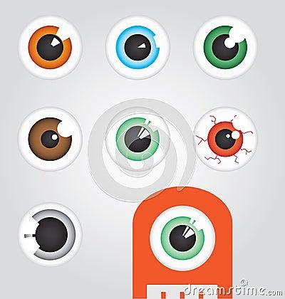 Free Eyeballs Royalty Free Stock Photography - 24756317
