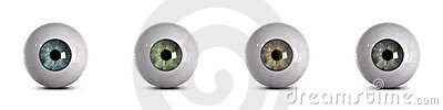 Eyeballs with clipping path