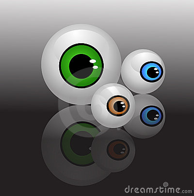 Eyeballs isolated vector
