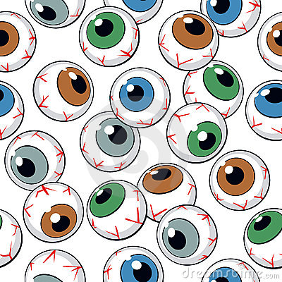Eyeballs seamless pattern