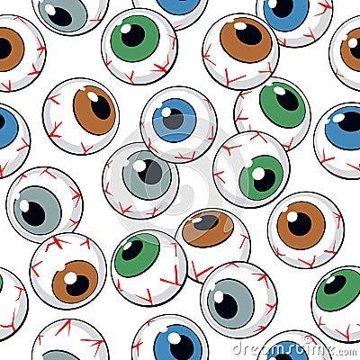Free Eyeballs Seamless Pattern Stock Photos - 23246843