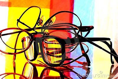 Eyeglass Stack Abstract