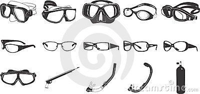 Eyeglasses illustrations