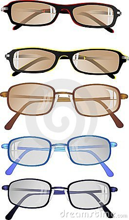 Eyeglasses or sunglasses, ready to wear