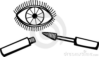 Eyelash mascara makeup vector illustration