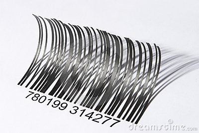 Eyelash shaped barcode