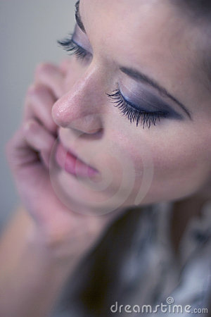 Eyelashes Of A Beautiful Woman