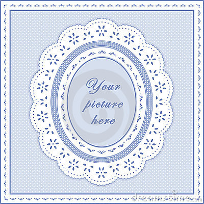 Free Eyelet Lace Frame, Seamless Background Royalty Free Stock Photography - 6341617