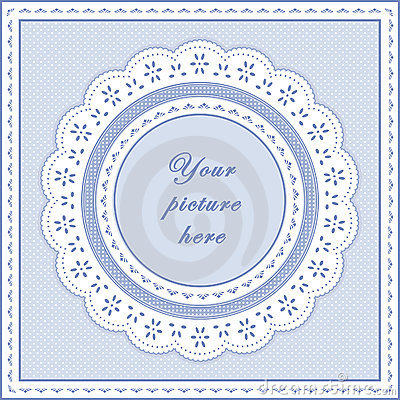 Eyelet Lace Frame, Seamless Background