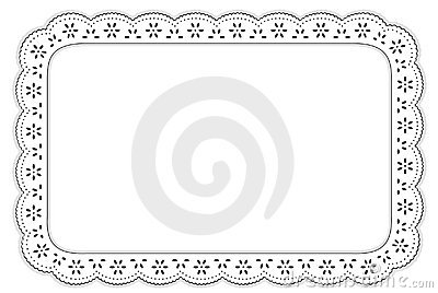 Eyelet Lace Place Mat, Black & White