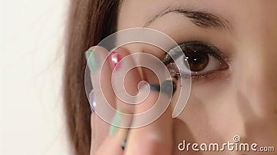 eyeliner stock video