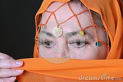 Eyes of arabian woman