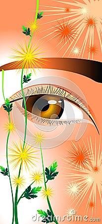 Eyes as chrysanthemums