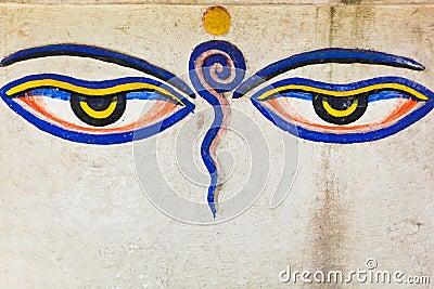 Eyes of buddha