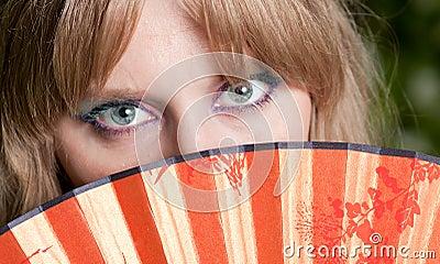 Eyes and a fan