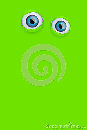 Eyes on green background Vector Illustration