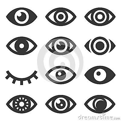 Free Eyes Icon Set Stock Photos - 101263933