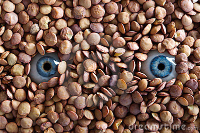 Eyes and lentils