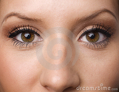 Eyes with long lashes