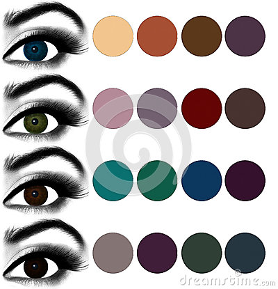 eyes makeup matching eyeshadow to eye color stock photo. Black Bedroom Furniture Sets. Home Design Ideas