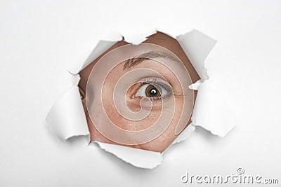 Eyes through paper