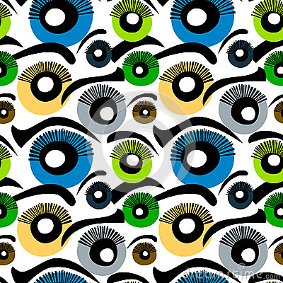 Eyes Seamless Background