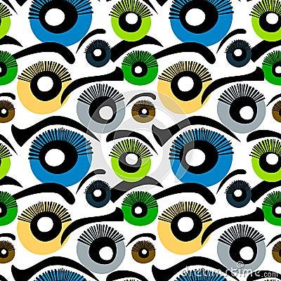 Eyes Seamless Background