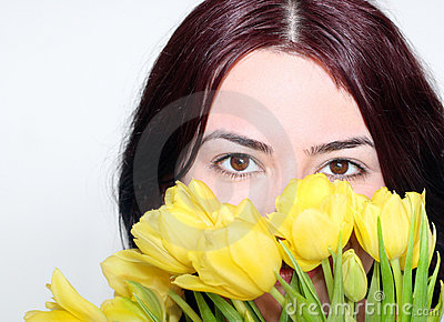 Eyes in tulips