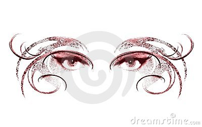 Eyes of Woman Wearing Mask 2