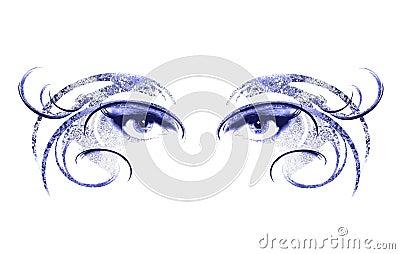 Eyes of Woman Wearing Mask