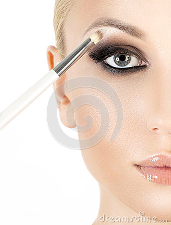 Free Eyeshadows. Eye Shadow Brush Royalty Free Stock Photos - 53574898