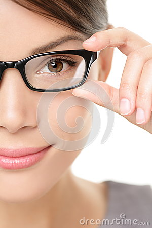 Free Eyewear Glasses Woman Closeup Portrait Royalty Free Stock Photo - 27258155