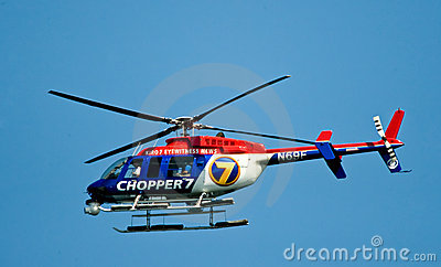 Eyewitness News Chopper 7 Editorial Stock Photo