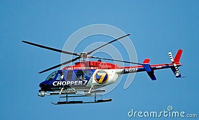 Eyewitness News Chopper 7 Editorial Stock Photo
