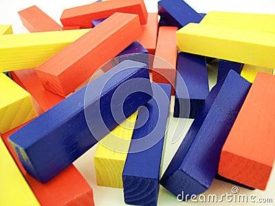 Färgade block 1