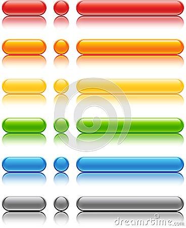 Färgade knappar