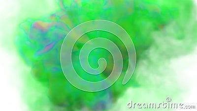 Färgfläckar Explosioner av färgstark rök, färger stock video