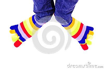 Färgrik fot