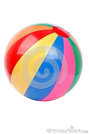 Färgrik plactic boll