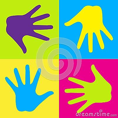 Färgrika händer