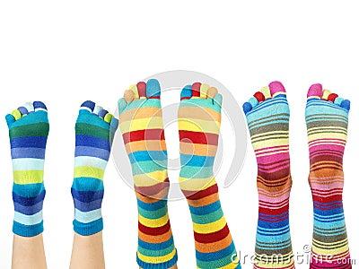 Färgrika sockor