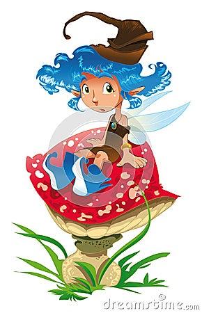 Fée-Bleu et le champignon de couche