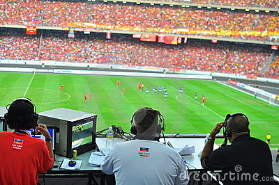 Fósforo de futebol de Malaysia e de Liverpool Foto Editorial