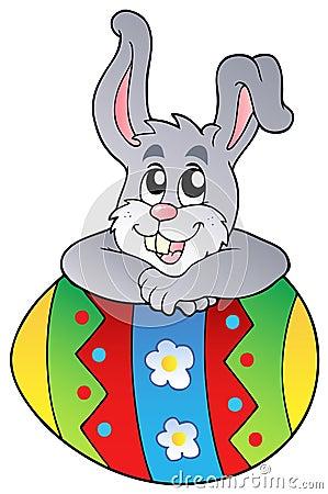 För easter för kanin gulligt lura ägg