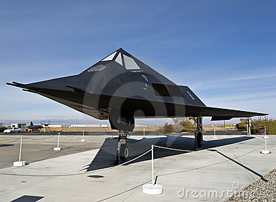 F-117 Museum Plane Editorial Stock Photo