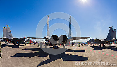 F-15 Eagle jet airplanes Editorial Stock Image