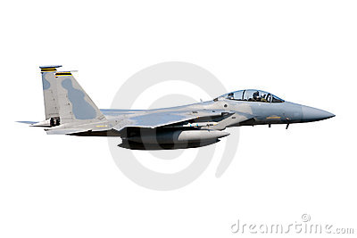 F-15 jet isolated